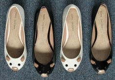 Marc Jacobs mouse flats. Possibly my favorite pair of shoes. I has them in white.