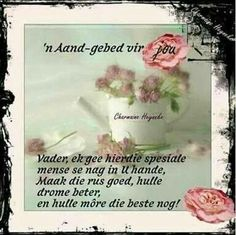 Good Night Blessings, Goeie Nag, Goeie More, Afrikaans Quotes, Prayer Board, Good Morning Good Night, Sleep Tight, Simple Life Hacks, Night Quotes
