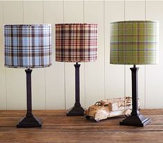 I love the Madras Shade & Mason Touch Lamp Base on potterybarnkids.com