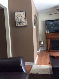 Love This Paint Color From Valspar, Milk Chocolate! Love My Accent Wall.