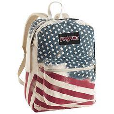Jansport American flag bookbag