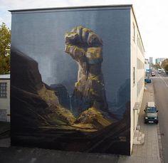 Heavy Stones Feel No Weather by @onurpainting & @wes21_schwarzmaler Reykjavik, Iceland #painting #graffiti #graffitiart #streetart #wallart #sprayart #mural #murals #artoftheday #art #visualarts #picoftheday #dailyart #instagood #instaart #artofinstagram #artistoninstagram #instaartoftheday #dailyart #picoftheday #illustration #instadaily #artgram