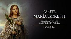 """El 6 de julio es Fiesta de Santa María Goretti, la niña de once años que fue asesinada de 14 puñaladas por resistirse a una violación y que antes de morir perdonó a su asesino. El Papa Pío XII la definió como """"pequeña y dulce mártir de la pureza""""."""