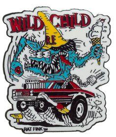 ED ROTH WILD CHILD ENAMEL PIN $5.00 #edroth #pin #accessory #ratrod #lowbrow