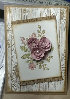 uses hardwood stamp from stampin up