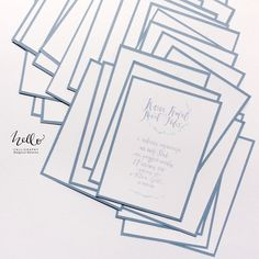 hanwritten calligraphy on wedding invitations by HELLO calligraphy . Małgosia Małecka.