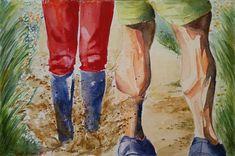 Buy Splash, Watercolor by Geeta Biswas on Artfinder. #splash #muddy #legsfordays #calves #calfmuscle #muscles #workout #couples #couplegoals #funny #mischief #humor #watercolor #aquarelle #artforsale #under$300 #geetabiswas #originalart