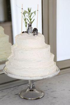 Gluten-free vegan homemade wedding cake :)
