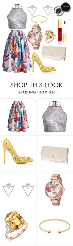 """Sem título #3085"" by michele-96 ❤ liked on Polyvore featuring Chicwish, GEDEBE, Eloquii, Nine West, Gucci and Bobbi Brown Cosmetics"