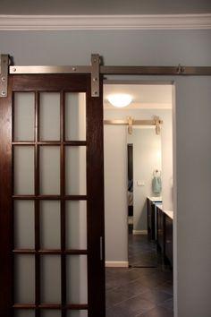1000 images about sliding barn door on pinterest for Double hung sliding barn doors