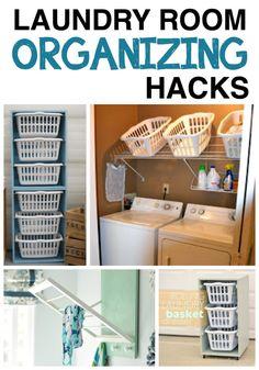 LAUNDRY HACKS! My laundry room needs these!
