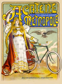 Six sizes from $29 TITLE: Acatene Metropole ARTIST: Charles Tichon CIRCA: 1898 ORIGIN: France Fine art giclee print on heavy acid free archival paper using 100+ year fade resistant inks.
