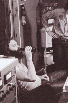 Jim Morrison {1971). Well I woke up this mornin and I got myself a beer.....