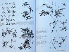 "Chinese Painting Book ""The Album of Bamboo and Orchid"" Asian Brush Ink Art 