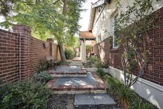 Wembley Residence heritage home landscape design Landscape Design, Sidewalk, Home And Garden, Patio, Building, Outdoor Decor, Plants, Projects, Gardens