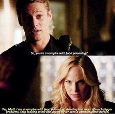 #TVD The Vampire Diaries 7x7 Matt & Caroline, spoiler for me.. ;-;