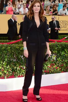 The Boldest Red Carpet Looks From The SAG Awards #refinery29  http://www.refinery29.com/2015/01/81264/sag-awards-2015-red-carpet-pictures#slide-27  After her surprise debut in this spring's Givenchy ads in a full-on black suit, how could Julia Roberts not wear a black Givenchy suit? With cropped sleeves and a slim-fit trouser, this suit isn't quite the Marlene Dietrich moment it could have been, but we appreciate the diversity it brought to the red carpet mix.