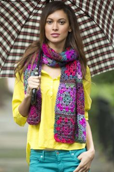 Image of Patchwork Effect Scarf