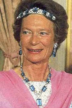 grand duchess josephine charlotte of luxembourg in the aquamarine bandeau