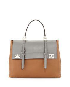 bd7bd1f936 Lux Calf Large Flap Satchel Bag