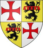 Coat of arms of Guillaume de Beaujeu. Image: Odejea [CC BY-SA 3.0 (http://creativecommons.org/licenses/by-sa/3.0) or GFDL (http://www.gnu.org/copyleft/fdl.html)], via Wikimedia Commons