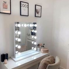 Thank you so much for featuring our Alicia Hollywood Mirror Lights Around Mirror, Makeup Mirror With Lights, Make Up Lighting Mirror, Makeup Vanity Lighting, Makeup Vanity Mirror, Vanity Mirrors, Cool Mirrors, My New Room, My Room