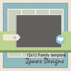 Friday Freebie: Family template #iNSD #scrapbooking #digiscrap #digitalscrapbooking #template #free