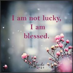 I am not lucky, I am blessed. Quotes Thoughts, Me Quotes, Qoutes, Photo Grid, I Am Blessed, We Are The World, Wise Words, Positive Quotes, Quotations