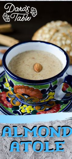 This almond atole is something completely different. Almond milk, ground almonds, cinnamon. piloncillo, and masa harina combine to make this a warm, comforting, and sweet beverage. #mexicangonevegan #recetasconganas #dairyfree #atole #almond #comfort #dayofthedead #piloncillo #vegan #hotdrinks Vegan Mexican Recipes, Vegan Breakfast Recipes, Delicious Vegan Recipes, Vegan Foods, Vegan Dishes, Vegan Desserts, Hot Tea Recipes, Sugar Free Recipes, Vegan Shakes