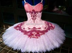 Pink Shantung with beaded and sequined lace ballet tutu