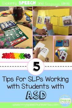 5 tips for SLPs working with students with ASD