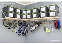 Get started quickly with Rhino Shelf's easy-to-install Corner Quickstart Kit. Our garage storage solution is the first step to organizing your home. Best Garage Shelving, Garage Storage Shelves, Storage Spaces, Corner Shelves, Shelving Solutions, Garage Storage Solutions, Storage Ideas, Man Cave Garage, Car Garage