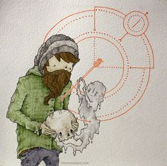 Love the use of watercolour and pen. Pen & Watercolor III by Clint Reid, via Behance