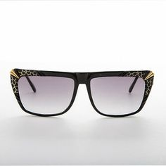 f082fffee3cc Hip Hop Flat Top Style Vintage Sunglasses Black   Gold Accent-Kayah   affilink