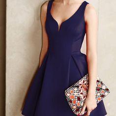 #585 V-Neck Slim Elegant Dress | Dresses Up