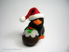 Little Christmas Pudding Penguin (rolling) (£22.50)