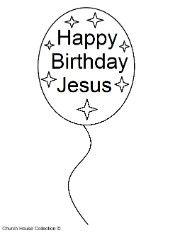 christmas coloring pages happy birthday jesus photo 7