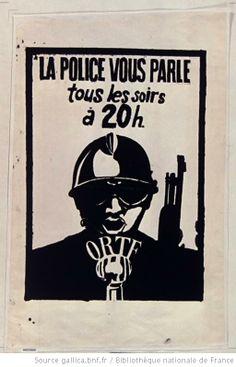 [Mai 1968]. La police vous parle tous les soirs à 20h (CRS devant un micro) : [affiche]