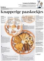 knapperige paaskoekjes,.. vandaag in de Volkskrant , Jean Beddington