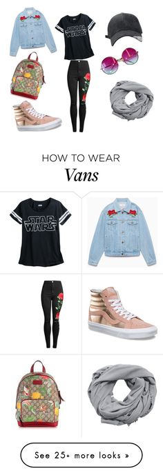 """""""ROSES"""" by atomic-curly-fries on Polyvore featuring Vans, Janis, MANGO and Gucci"""
