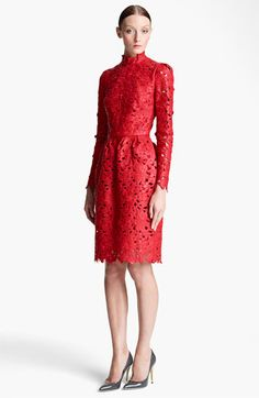 Valentino Laser Cut Leather Dress available at Valentino Clothing, Valentino Women, Laser Cut Leather, Pu Leather, Holiday Party Outfit, Dress Cuts, Nordstrom Dresses, Ladies Dress Design, Dream Dress