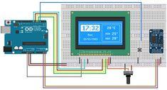 Horloge avec écran LCD et module RTC – Steff Bingo – # … - Bricolage Arduino Display, Display Lcd, Clock Display, Bingo, Pi Computer, Computer Programming, Diy Electronics, Electronics Projects, Lcd Arduino