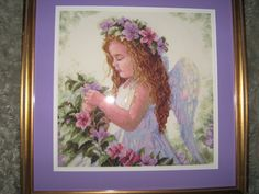Cross Stitch angel for my granddaugther's 1st communion