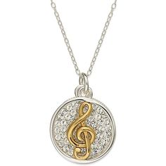 Inspirational 14k Gold over Sterling Silver and Sterling Silver... (£31) ❤ liked on Polyvore featuring jewelry, necklaces, accessories, colar, no color, crystal necklace, sterling silver pendant necklace, sterling silver necklace, gold pendant necklace and heart pendant