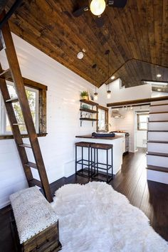 Living Room & Kitchen - 26' Napa Edition by Mint Tiny Homes