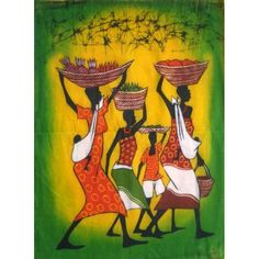 oil painting of African art