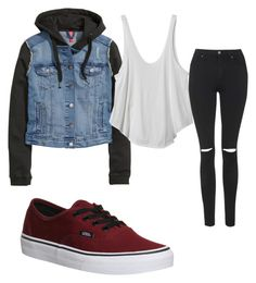 """""""Winter"""" by tatyanacblanco ❤ liked on Polyvore featuring H&M, RVCA, Topshop and Vans"""