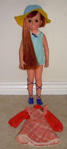 Crissy Fam. Pair Red Clog Shoes For Velvet Doll