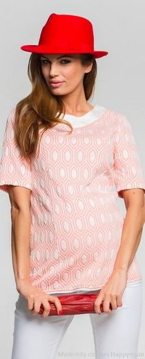Promise pink pattern maternity top
