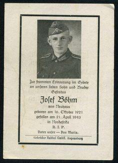 orig. WK2 STERBEBILD - DEATH CARD - AFRIKA KORPS - DAK - KIA 1943 Nordafrika